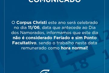Feriado Corpus Christi